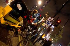 London Rickshaw (~FreeBirD~) Tags: life uk red people signs tree green london yellow nikon nightshot parking transport streetphotography mani direction busy nightlife rickshaw cabs mode mb metropolitan freebird tfl liecestersquare manibabbar maniya