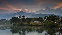 Dawnscape (sengsta) Tags: nepal lake mountains reflection dawn pokhara annapurna himalayas fishtail damside fewatal machupuchare