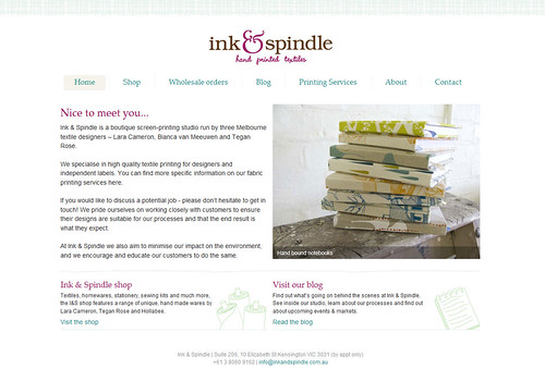Ink & Spindle's new website