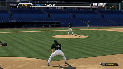 MLB 09 The Show baserunning training screenshot