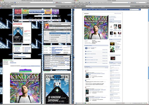Comparison of MySpace and Facebook artist homepages