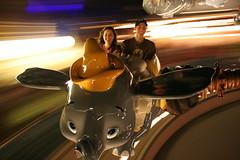 Dumbo at night (Angela(Gruber)) Tags: blur colour night canon orlando ride florida dumbo disney disneyworld motionblur digitalrebel fantasyland canondigitalrebelxt magickindgom canoneosdigitalrebelxt350d florida2magickingdom