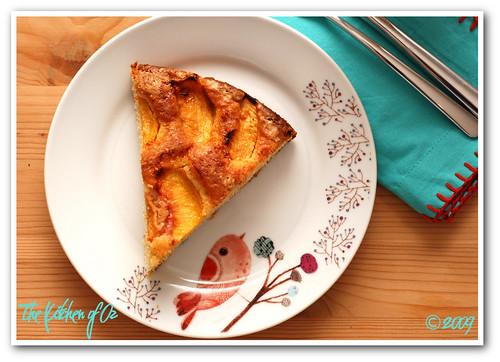 Hazelnut Peach Torte