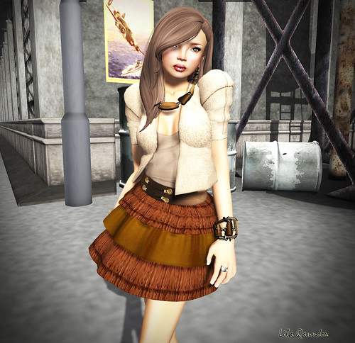S H I N E - Anitta skirt_Brown (Close)