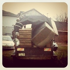 Bye Bye Couch (pam sattler) Tags: seattle yard couch byebye iphone sadface instagram