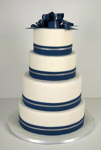 W9045 Navy White Silver Wedding Cake Toronto A Photo On Flickriver