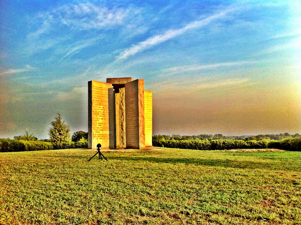 Behind the Scenes - time-lapse camera 2 at the Georgia Guidestones (iPhone pic)