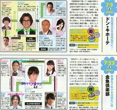 7.9 NTV ドン★キホーテ 7.23 NHK 金魚倶楽部