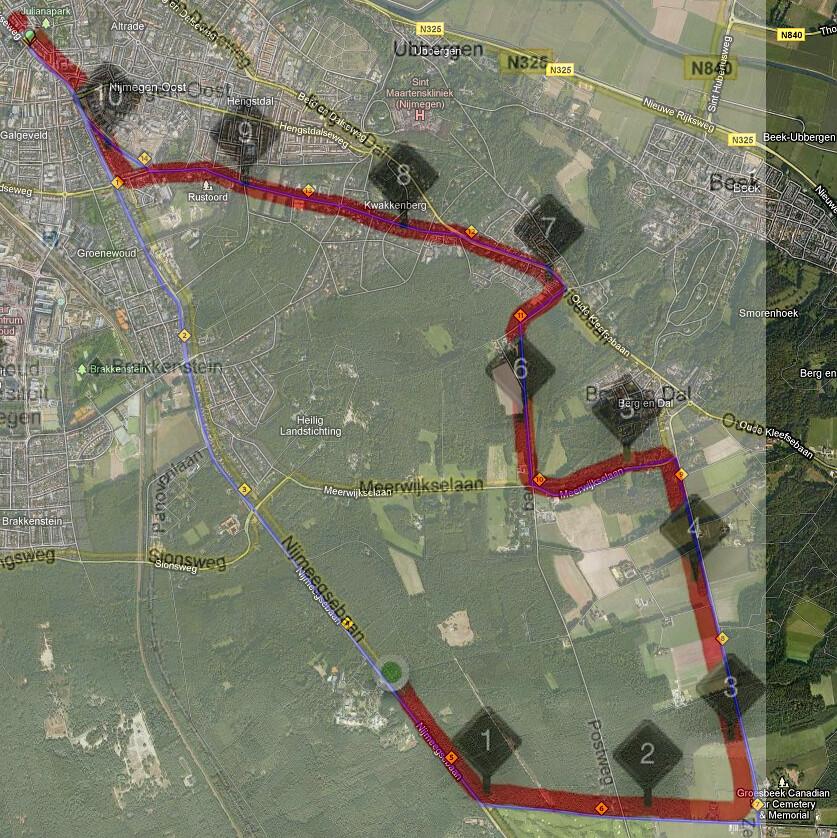 de 11 km. 7HV-traject van vandaag