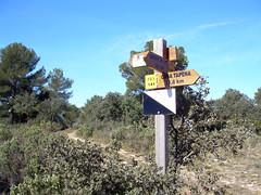 Cruce de caminos en el GR7