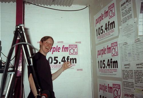 Inside the Purple FM studio