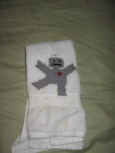 robot towel from https://shanalogic.com/index.php