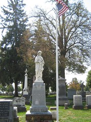 Jennie Wade Grave in Evergreen Cemetery - Gettysburg, PA (smokejmt) Tags: history monument cemetery grave graveyard statue memorial pennsylvania headstone headstones graves historic gettysburg civilwar battlefield cemeteryridge jenniewade