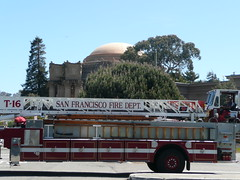 Palace of Fine Arts and fire truck