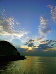 Ain't No Sunshine (La Vieja Sirena) Tags: sunset sky colors sunshine atardecer mar song colores cielo nubes puestadesol emotions donosti sansebastian feelings cancin sentimientos blueribbonwinner emociones besote abigfave onlyyourbestshots otroparati gettyimagesiberiaq3