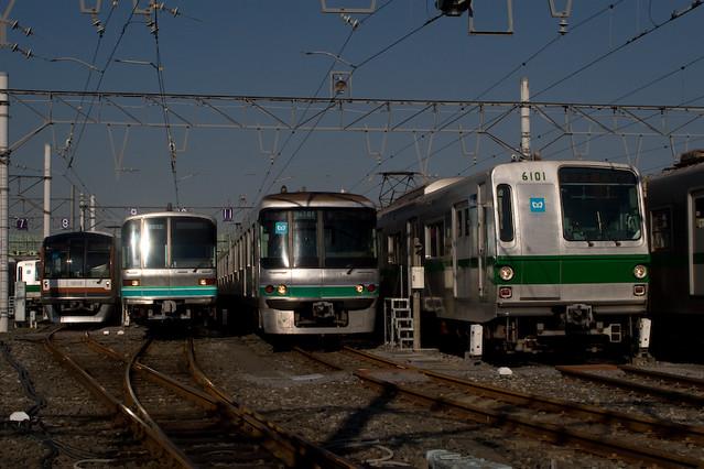 At Tokyo Metro Ayase Train Garage