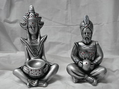Casal Hindu mdio (Digo Pessoa) Tags: bonecas arte afro artesanato imagens decorao gesso pinturas africanas decorativo