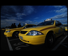 Ready to go (heritagefutures) Tags: sky copyright yellow airport cab australia melbourne victoria taxis hr dirk allrightsreserved spennemann photofaceoffwinner pfogold heritagefutures dirkhrspennemann copyrightdirkhrspennemann ausphoto