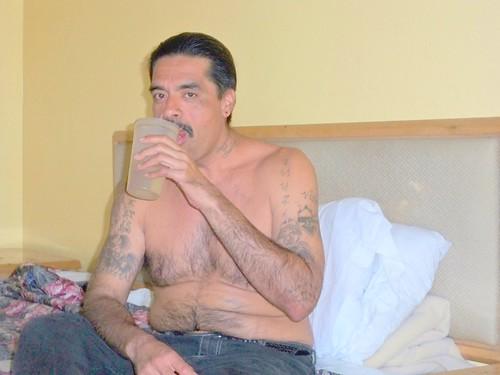 Tata in Room 42 at Cabana Motel