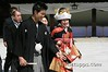 Bride and groom just married in a Japanese wedding, Tokyo, Japan