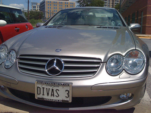 Silver Mercedes-Benz SL - Taken With An iPhone