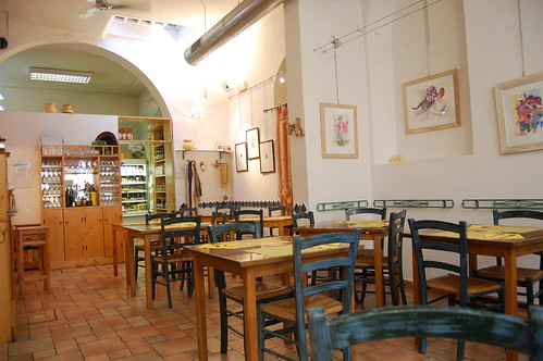 inside La Raccolta restaurant