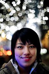 izabel 2005:december (TommyOshima) Tags: 2005 winter portrait night 50mm tokyo december f14 illuminations olympus roppongi zuiko izabel kodakso553