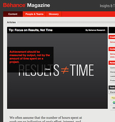 Focus on Results, Not Time from Behance Magazine_1214522992266