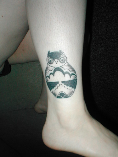 Women Foot Owl Tattoos Picture 5