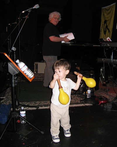 Davey on stage with Grandpa