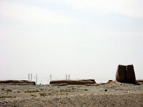 The not-so-great Great Wall of China west of Jiuquan, Gansu Province, China