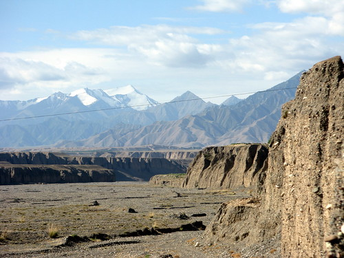A gorge leading up to mountains south of Qinshui, Gansu Province, China