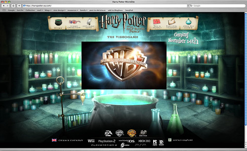 Harry Potter Video Game Site
