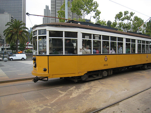 Trolley along  Embarcadero
