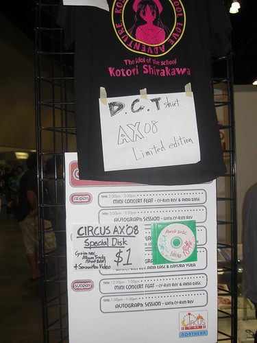 Da Capo Shirt at Circus Booth