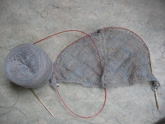 Icarus shawl - In Progress