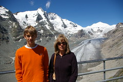 Patrick and Diane in front of Grossglockner and Pasterzenglacier (Andreas' Photos) Tags: austria grossglockner pasterzengletscher