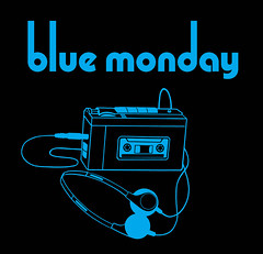 Blue Monday T-shirt design