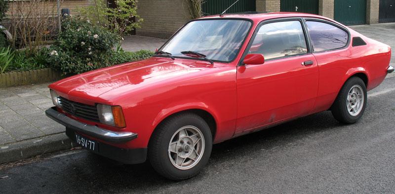 opel kadett coupe. rode Opel Kadett Coupé