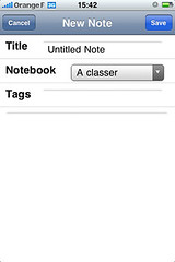 evernote note