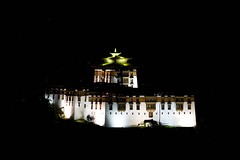 Bhutan: Paro Dzong at Night