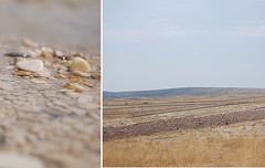 Don't be afraid to walk alone~ (Tja'Sha) Tags: blue sea sky beach diptych loneliness croatia peacefulness neverendingstory fieldsofgold littlestones islandpag weekendattheseaside littlebokehdrops