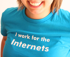 I work for the Internets, CC licensed by flickr user thewavingcat