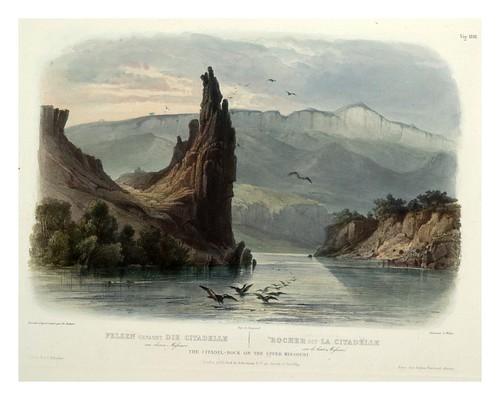 0018r-Roca de la ciudadela en el alto Missouri