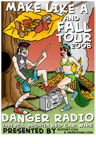 danger radio tour poster