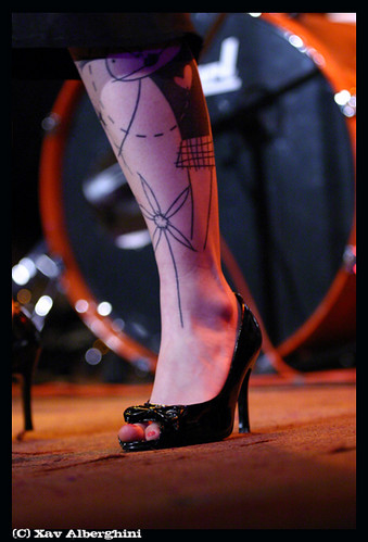 Tattoo leg. Copyright Xav' Alberghini