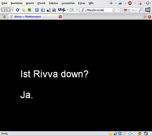 Informationspolitik bei Rivva.de: Klare Aussage