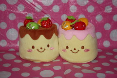 Cute pudding/flan (Verokitschy) Tags: food cute smile smiling cake fruit dessert phone cell pudding plush kawaii plushie sweets flan holder zakka purin cellphoneholder foodwithfaces janetstore
