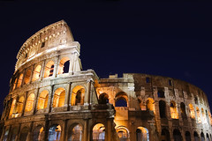 Colosseo Night Color (mercolino) Tags: italy rome ruins italia cruzadas collosseo aplusphoto