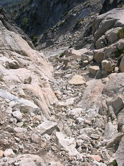 Looking down the access gully
